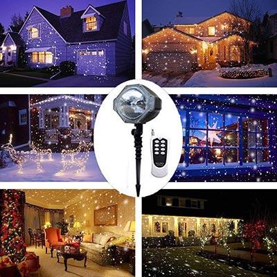 proiettori luci di natale Luci di caduta della neve del LED LANDEE