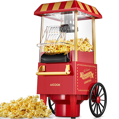 Aicook Macchina per Popcorn, 1200W Retro