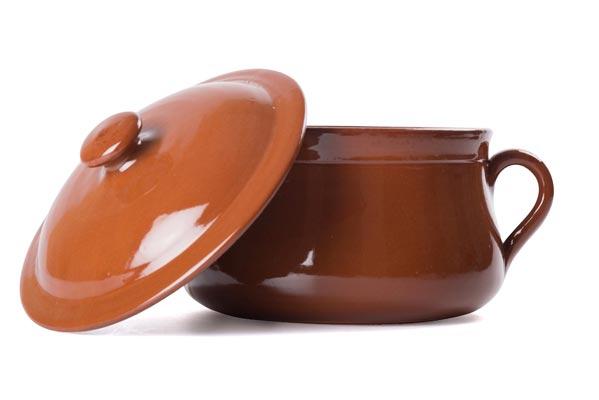 Cottura nelle pentole di terracotta: Primo utilizzo