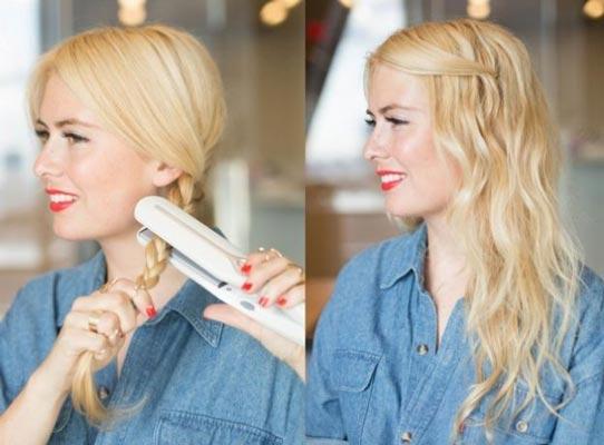 come fare capelli mossi: con trecce