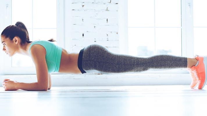Addominali a casa: plank