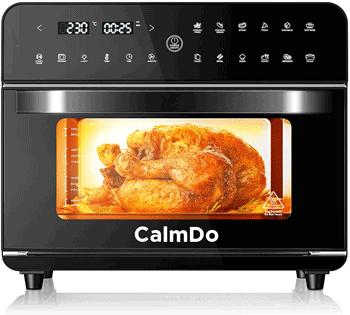 CalmDo Friggitrice ad Aria 25L, Forno ad Aria Calda 12 Programmi con Touch Screen, 1800W